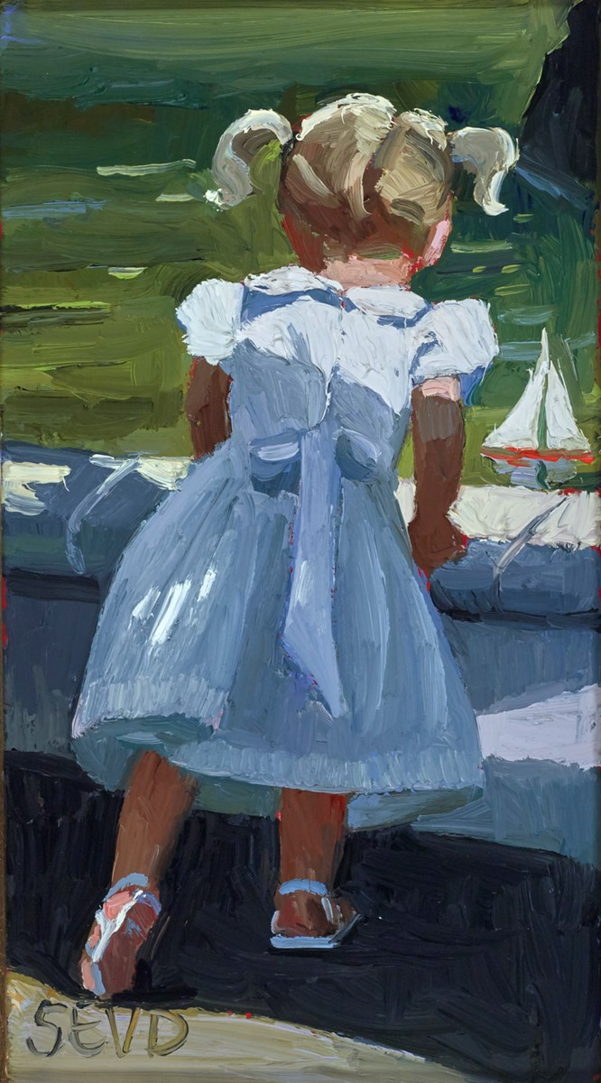 The Toy Yacht by sherree valentine daines -  sized 4x7 inches. Available from Whitewall Galleries